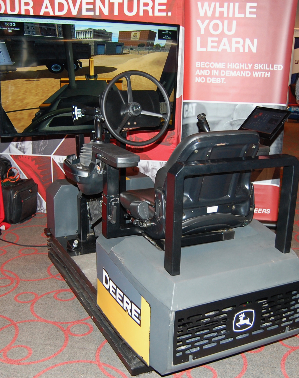 Backhoe simulator
