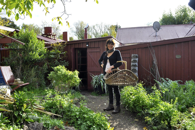 Lynnie Alexander in the garden