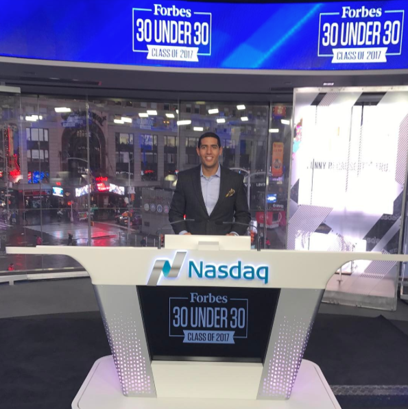 Karim was able to join the Forbes team to ring the closing bell at NASDAQ for his work as CEO of  Practice Makes Perfect  ( @pmpusa )!
