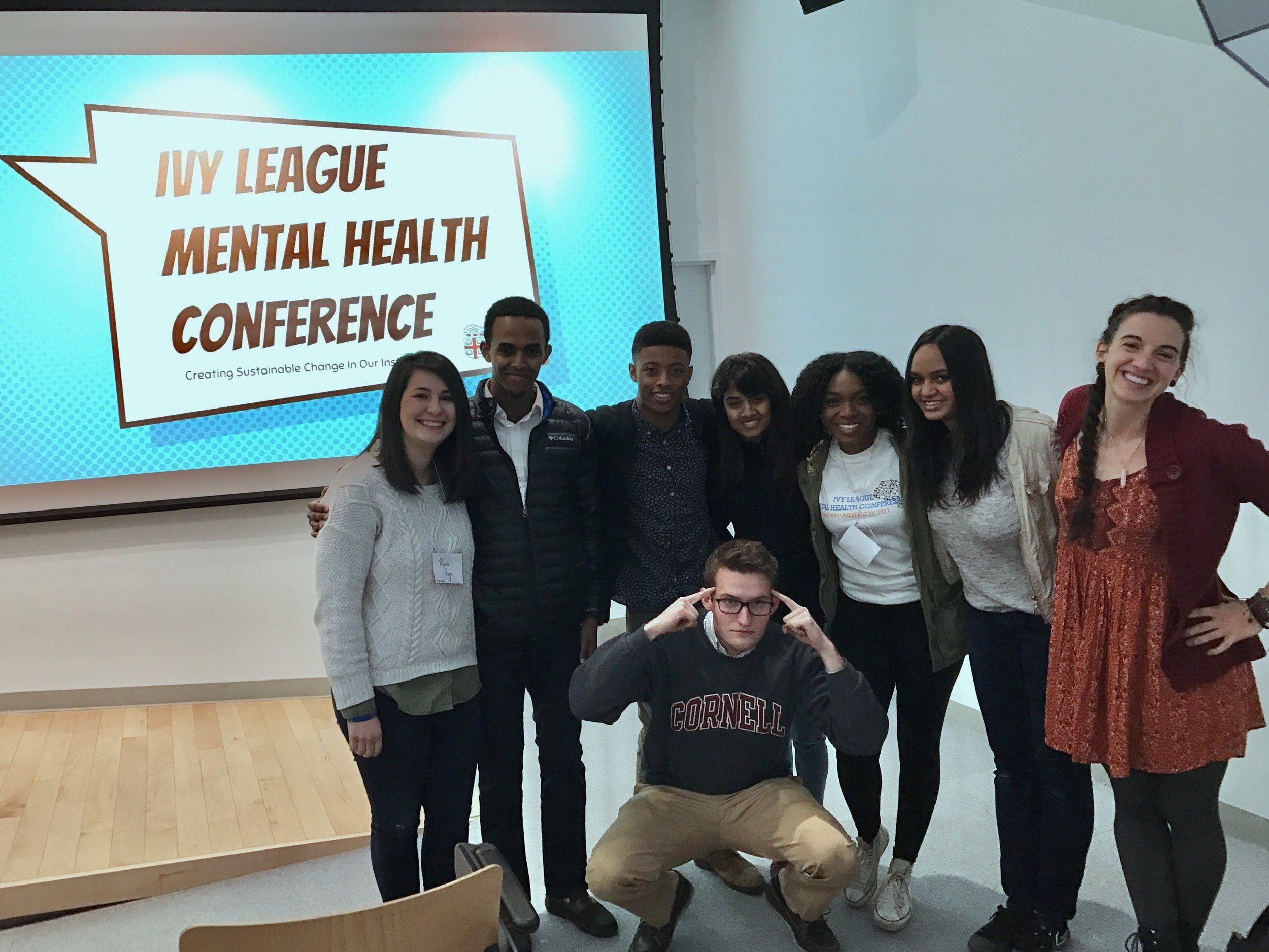 Brandon Adams at the Ivy League Mental Health Conference