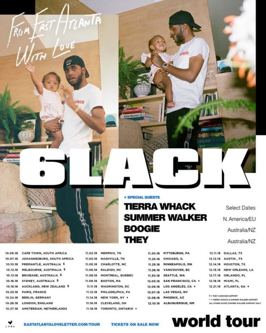 6lack Tour