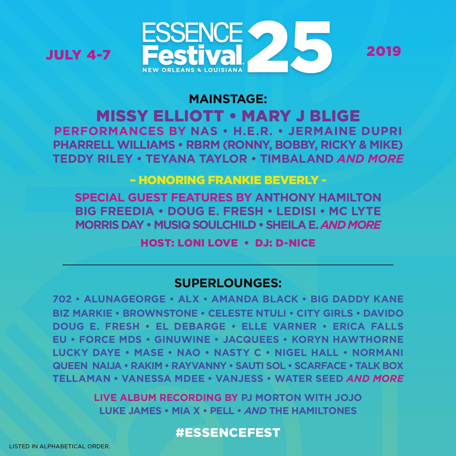 2019 Essence Festival