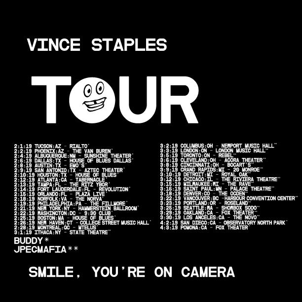 Vince Staples Tour