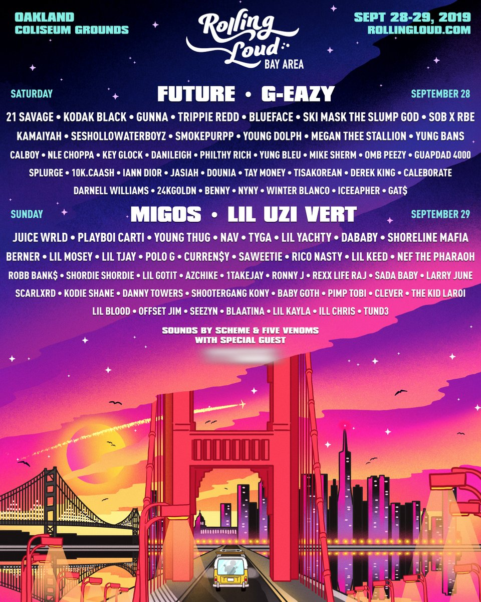 Rolling Loud 2019 Bay Area