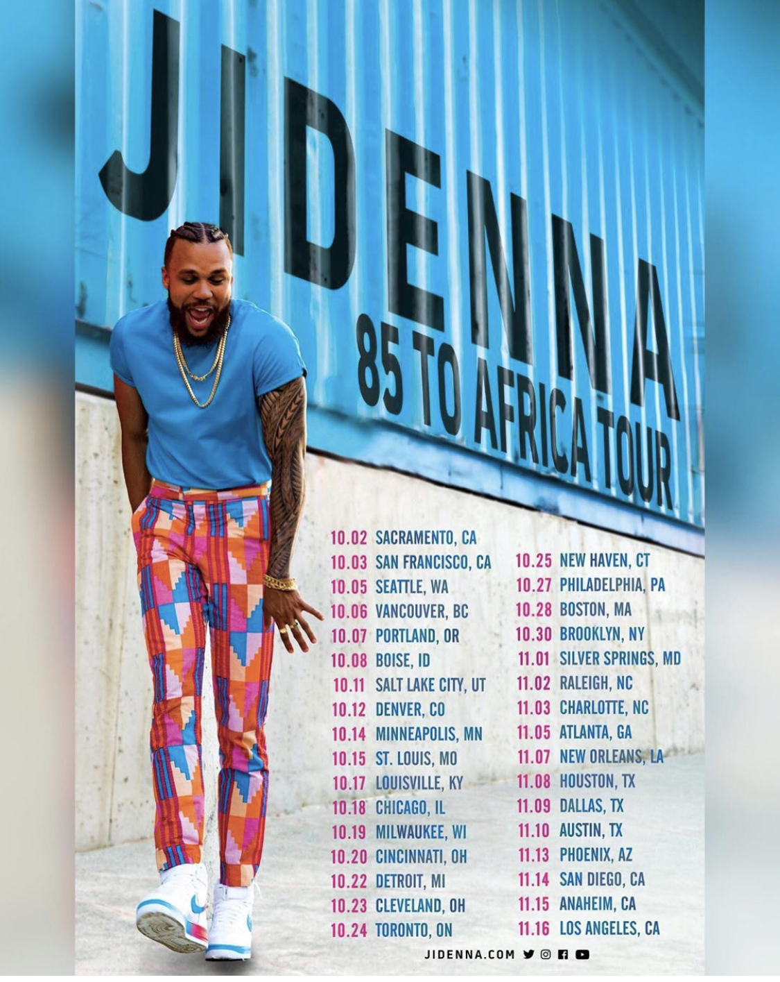 Jidenna 85 to Africa Tour