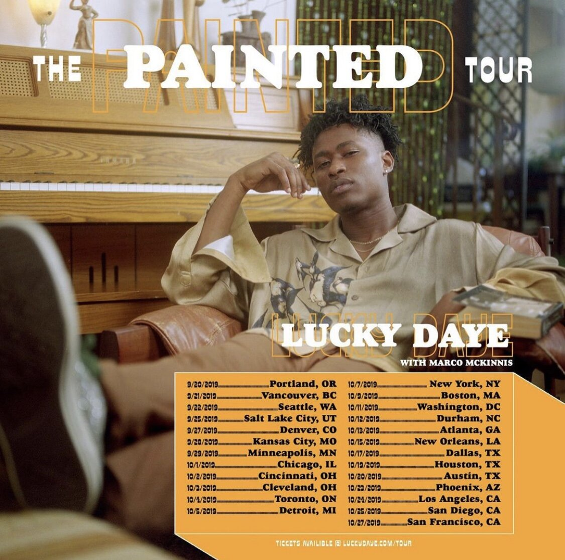 Lucky Daye Painted Tour