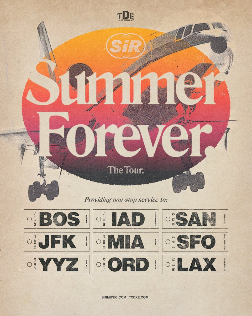 Sir Summer Forever tour