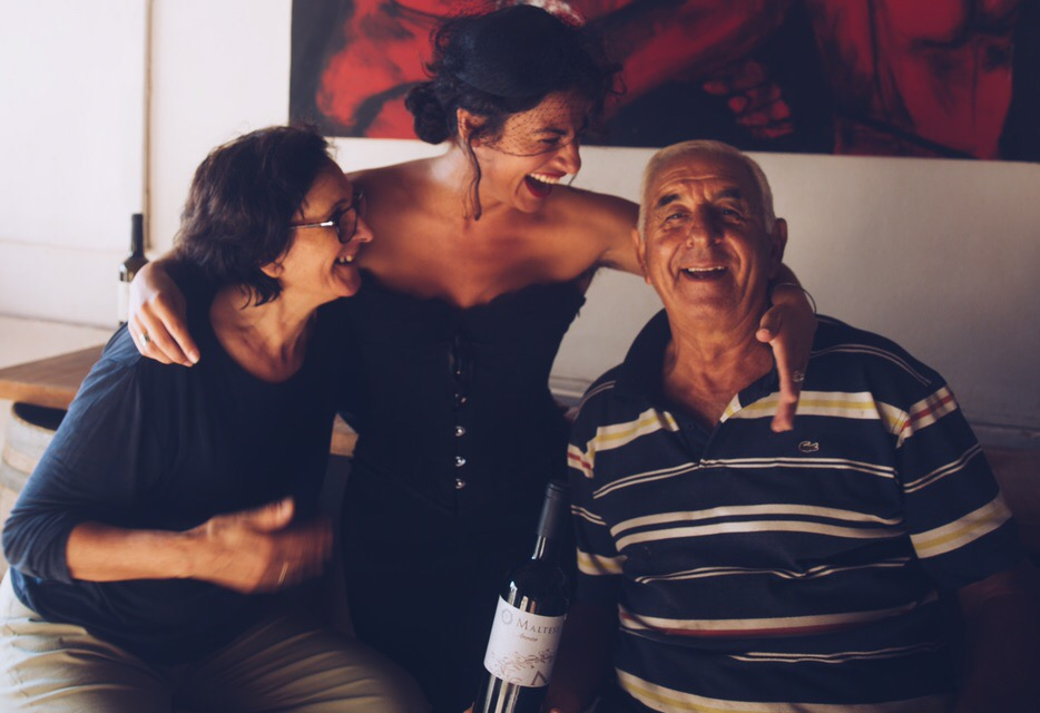 With my Sicilian family. A family not by blood, but by soul. They are 5 generations of farmers and wine makers and their internationally famous MALTESE WINE is exquisite!