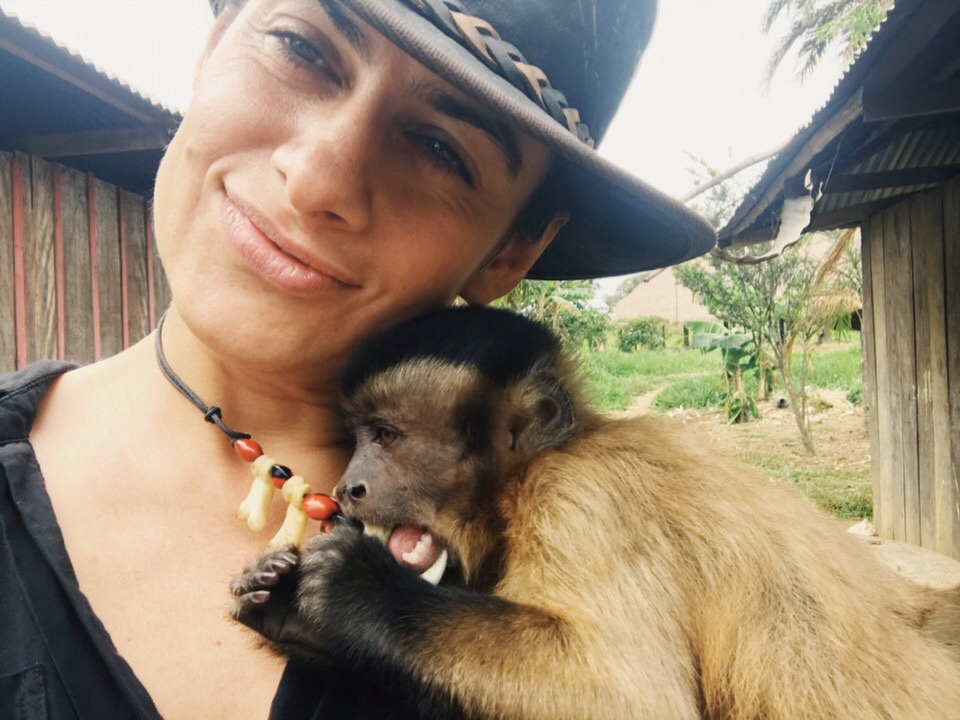 """I even have a monkey """"Jack""""…  All we need is just to steal a ship… (at Nukak-Maku tribe, Colombian Amazon)"""