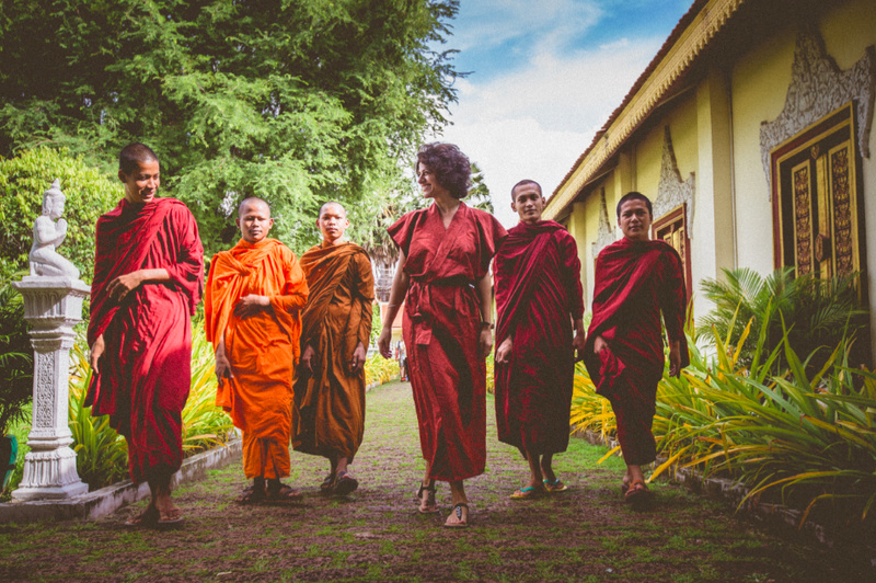 And they say that Monks don't smile… yes, they do… (Cambodia)