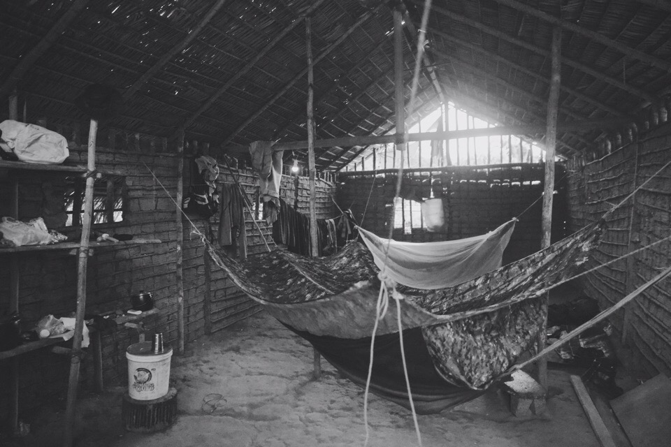 Chief Geronco of this Yanomami tribe, that is deep inside Amazonian jungle, gave me my own house to live in… made only out of natural materials. This military hammock was a gift to me from SENAFRONT lieutenant in The Darien Gap jungle in Panama.
