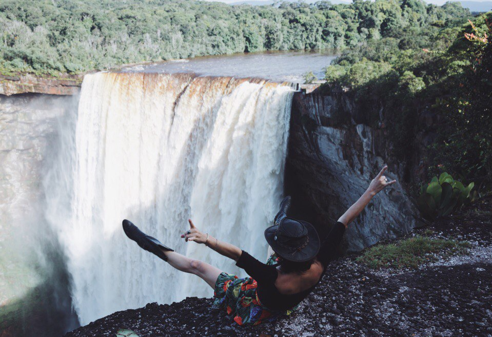 Kaieteur Falls in Guyana is the world's largest single drop waterfall