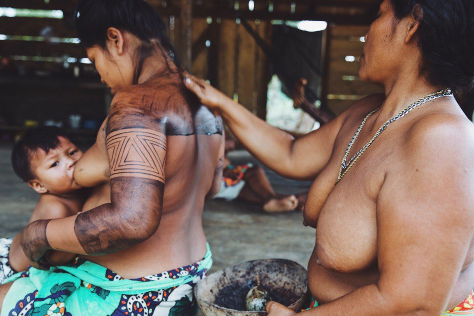 Embera tribe, Darien Gap jungle, Panama.