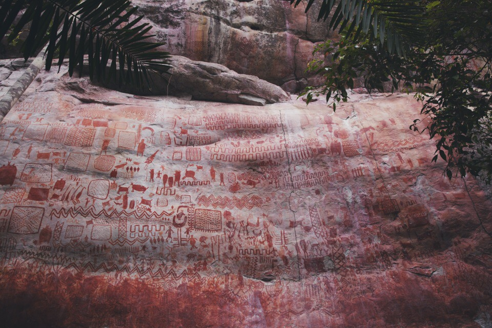 12.500 year-old cave paintings. Colombia
