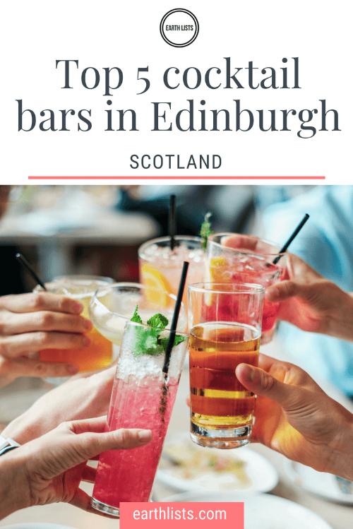 Edinburgh cocktail bars