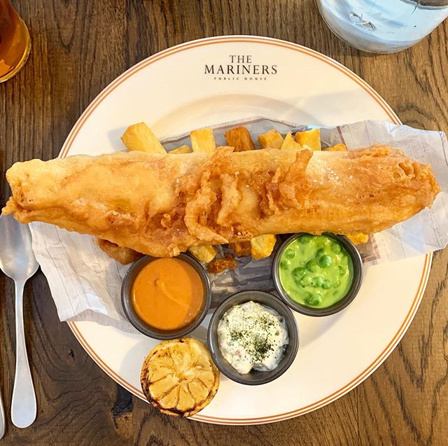 Did someone say Fish & Chips?  I visited The Mariners at Rock in Cornwall and had the best plate of Haddock as you can see.  It was meant to be as Paul Ainsworth had been on This Morning the day before cooking this British staple.  It was so reasonably priced as well for a town dominated by celebrity chefs 🤗