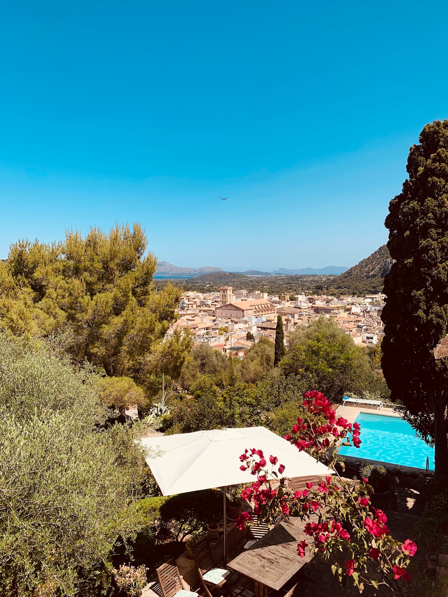 View from our Villa -