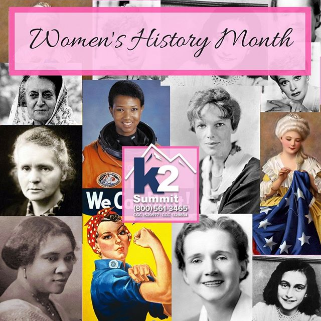 March is Women's History Month. Let's take a moment to celebrate all of the influential women throughout history. Which woman inspired you the most?  https://womenshistorymonth.gov/  #k2summit #k2thesummit #roofing #roofinglife #construction #rooftop #roofer #contractor #remodeling #remodel #renovation #reroofing #constructionwork #roofconstruction #waterproofing #waterproofingsystems #generalcontracting #industrialroofing #commercialroofing #history #women #womenshistory #womenhistorymonth #influentialwomen #famouswomen #historicalwomen #powerfulwomen #girlpower