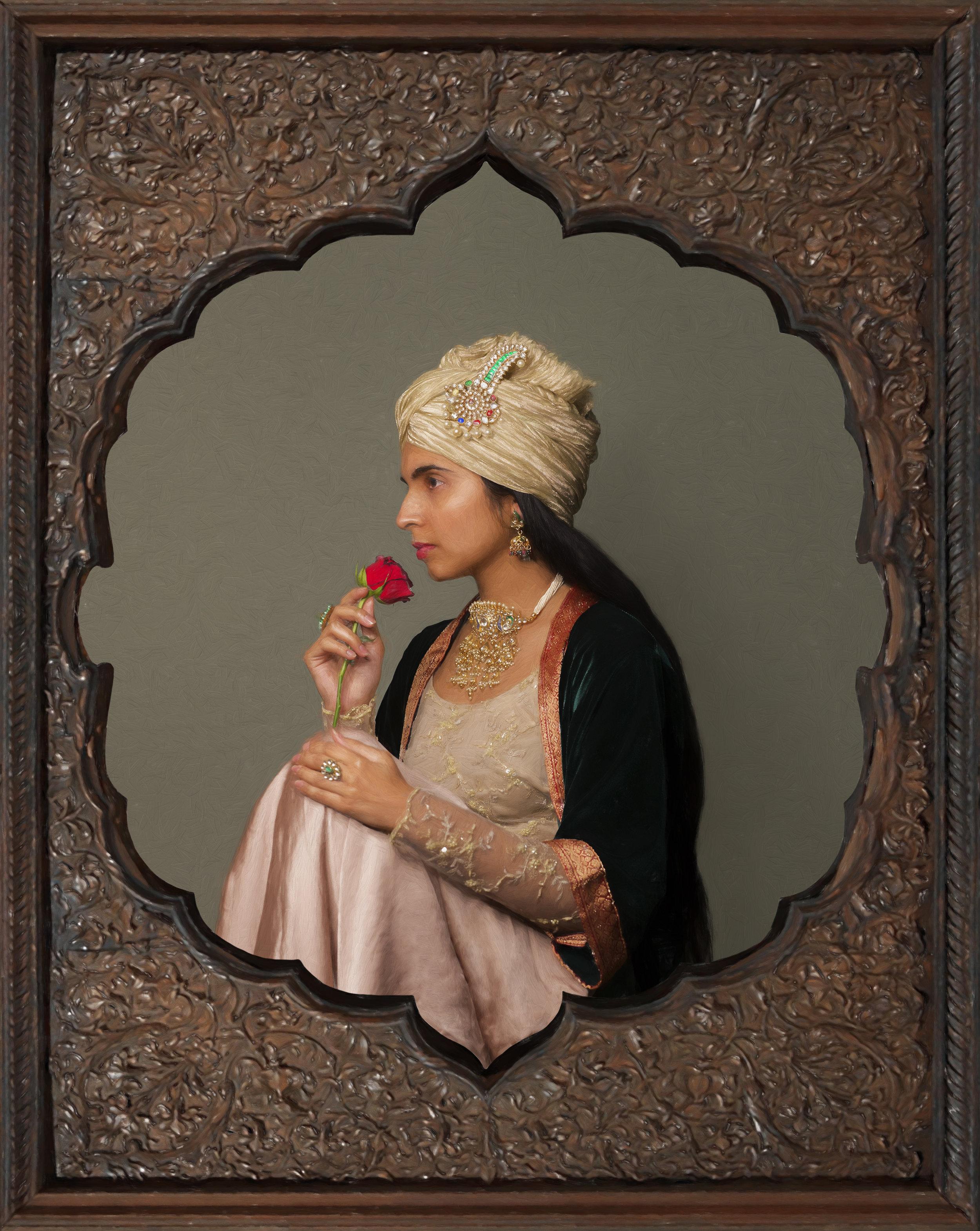 Lady with turban, circa 2016-17