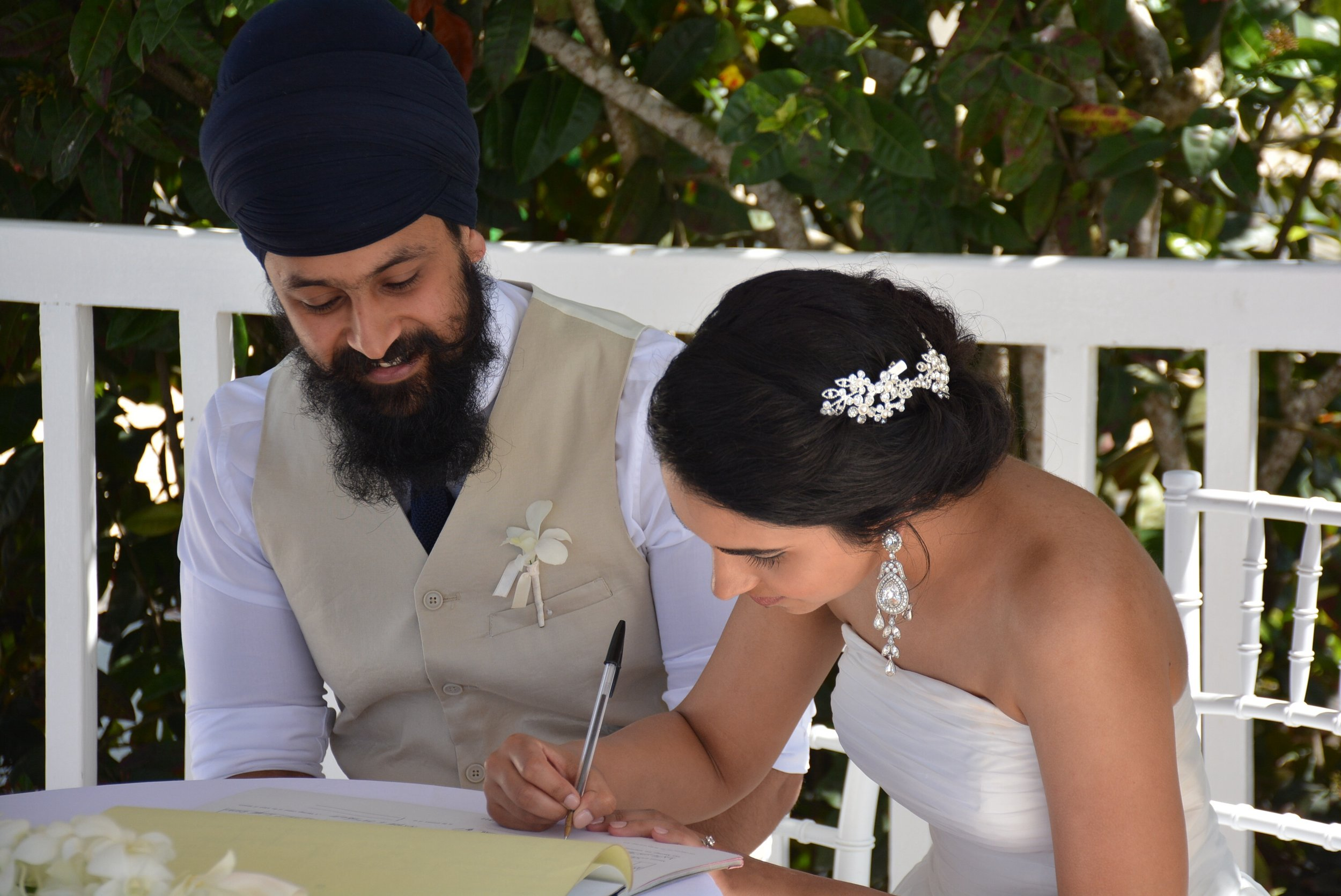 Signing the register. I vividly remember how my hand was trembling as I signed my name.