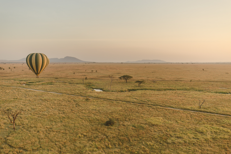The Serengeti from atop a hot air balloon