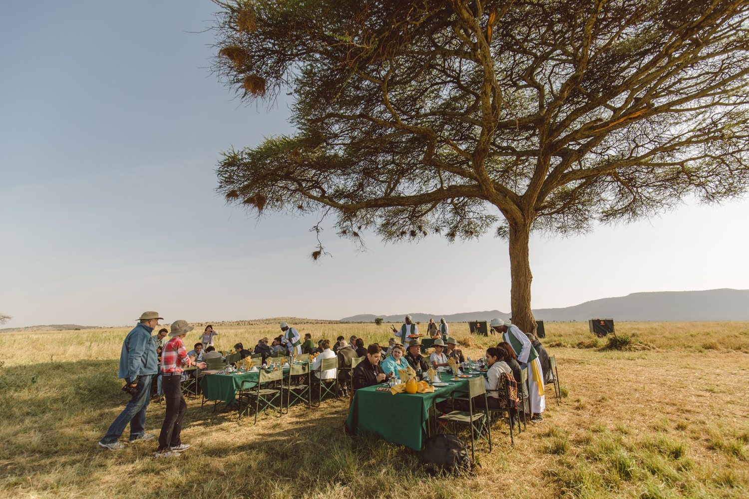 Breakfast is served- after the hot air balloon ride, everyone is invited to have a full English breakfast with the captains in charge of your personal flight.