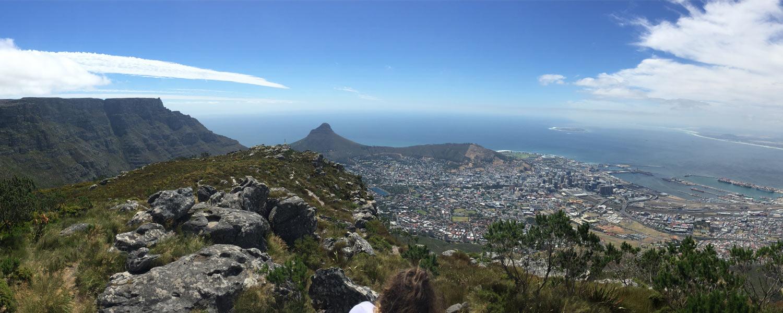 Vista da cidade de Cape Town do topo da montanha Devil's Peak - Foto: Arquivo pessoal
