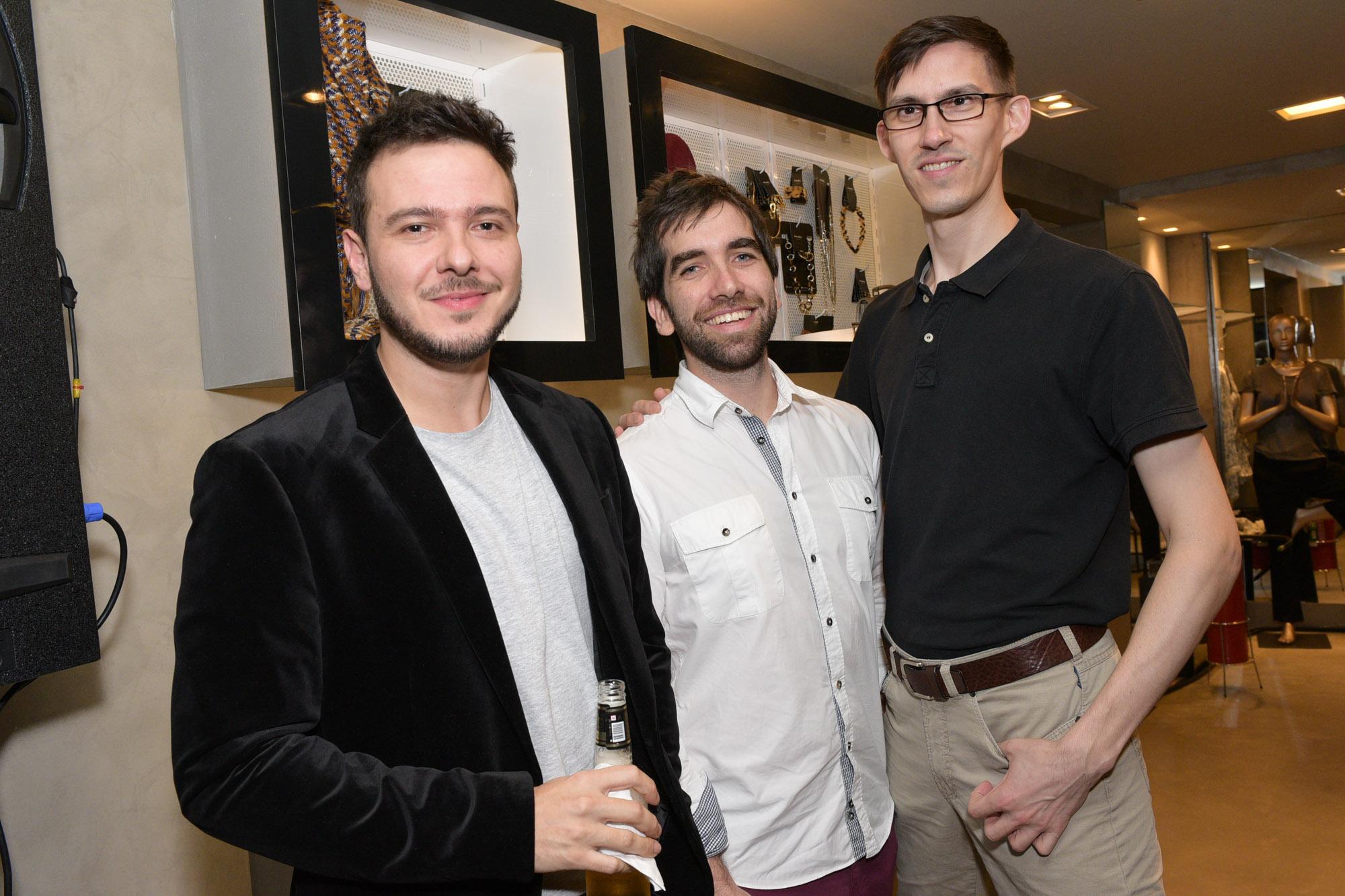André Martins, Fernando Galender e Caspar Wolf