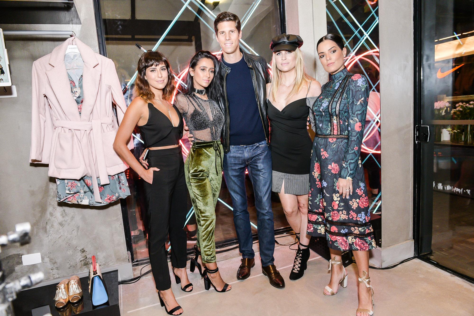 Francesca Monfrinatti, Fernanda Paes Leme, Dominique Oliver, Julia Faria e Mariah Bernardes