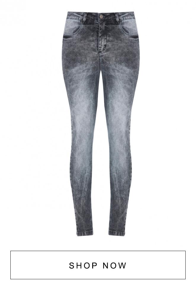 Calça jeans AMARO skinny com lavagem marmorizada