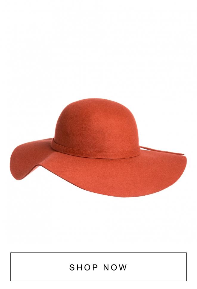 Chapéu floppy laranja