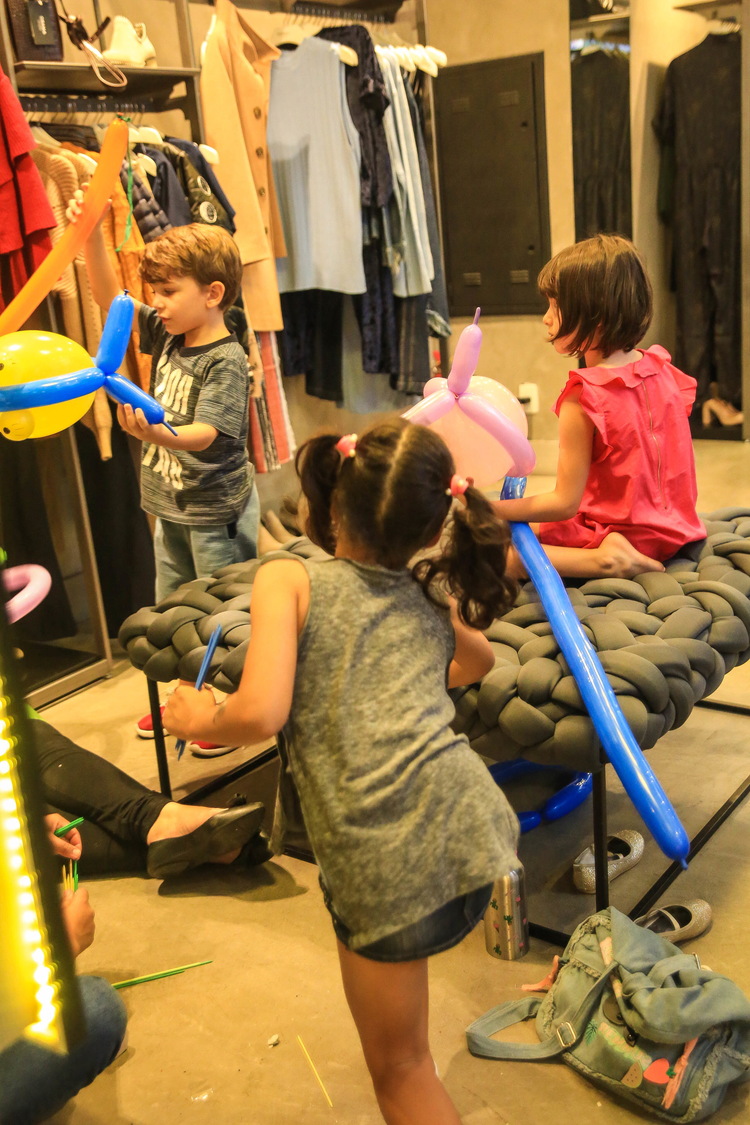 O evento também contou com monitoria para as crianças!