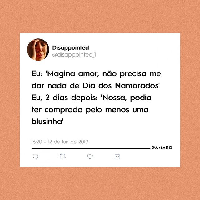 Estado civil: Nem comprometida, nem solteira - simplesmente eu!  Dia dos Namorados bom é com #AmorSemPressão 💖