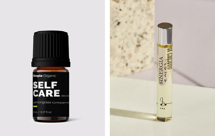 PRODUCTS: SIMPLE ORGANIC ESSENTIAL OIL LEMONGRASS; SANTAPELE SYNERGY OF LOVE.