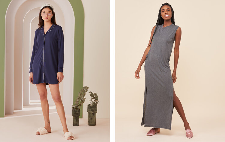 PRODUCTS: COMFY LONG DRESS VISCOSE SHIRT WITH POCKETS AND SLIT