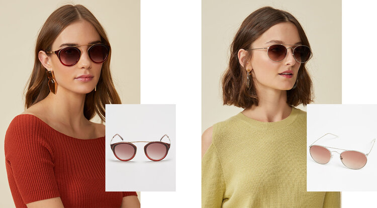 PRODUCTS: METAL SUNGLASSES WITH ROUND ACETATE; ROUND METAL SUNGLASSES