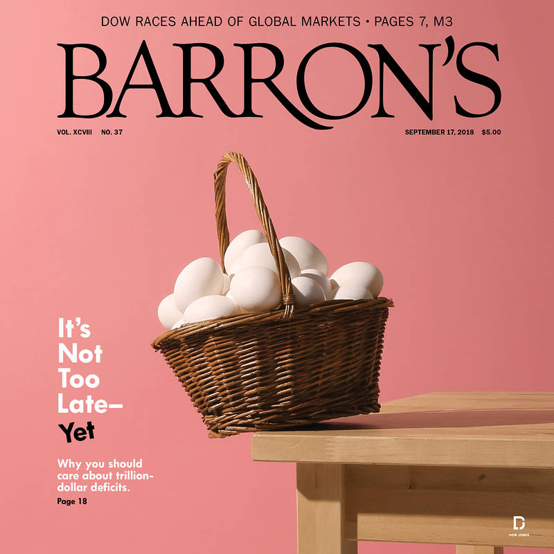 Cover of Barron's issue that includes the Top 100 Independent Wealth Advisors rankings.    This is an excerpt from the rankings as published in Barron's Magazine on September 17, 2018. The full list of Top 100 Independent Wealth Advisors can be found a    www.barrons.com   .    Copyright ©Dow Jones & Company, Inc. All Rights Reserved.