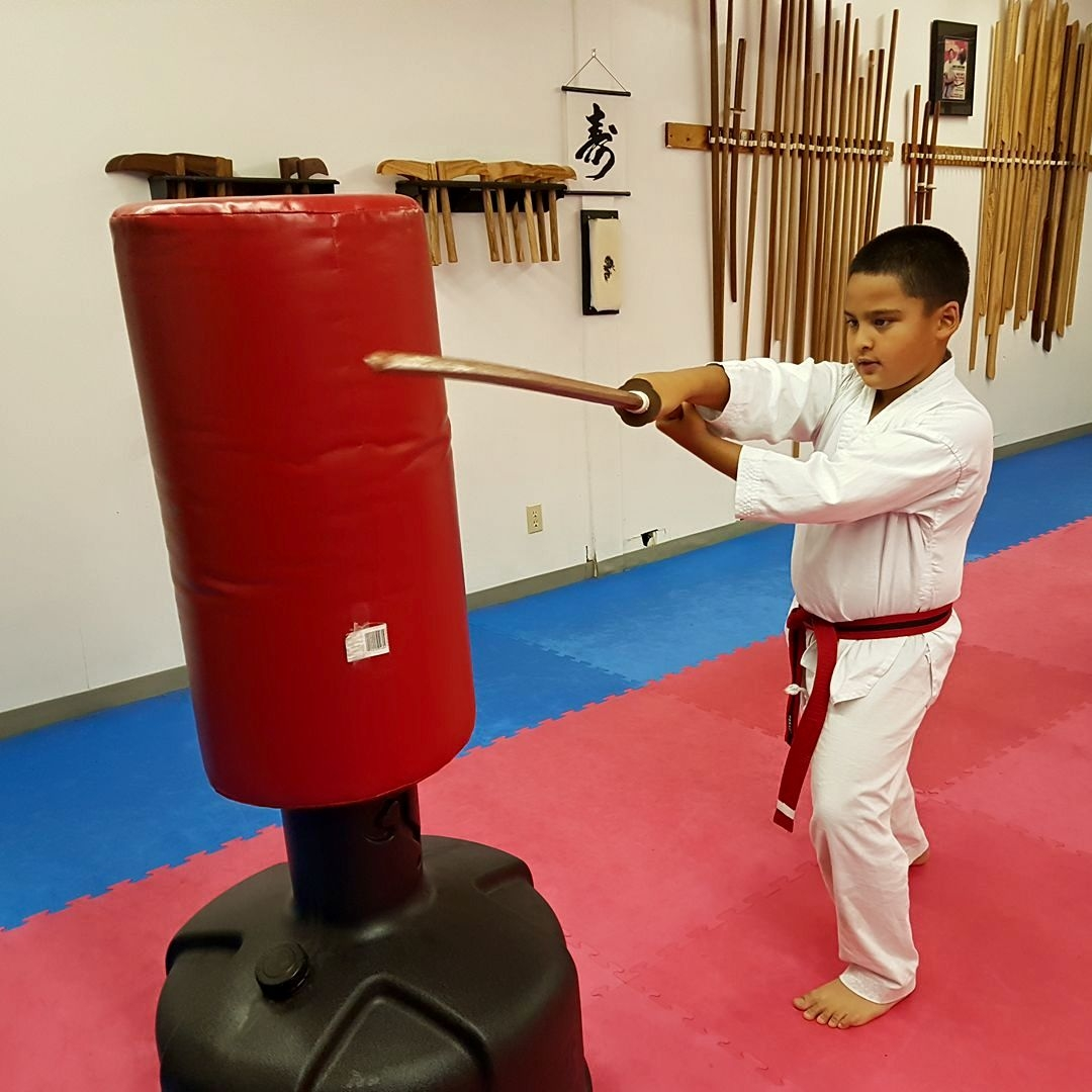 Ages 8-11 Advanced - Mon/Wed 5:00-5:45At this level, students learn spinning kicks and high section kicks. They increase their repertoire of hand strikes and blocks to include open-handed techniques. Self defense includes more grappling and more practice in reacting to unexpected attacks. Advanced sparring concepts include clinching, ring control, and the use of turning kicks. Students gain proficiency with a number of different weapons.