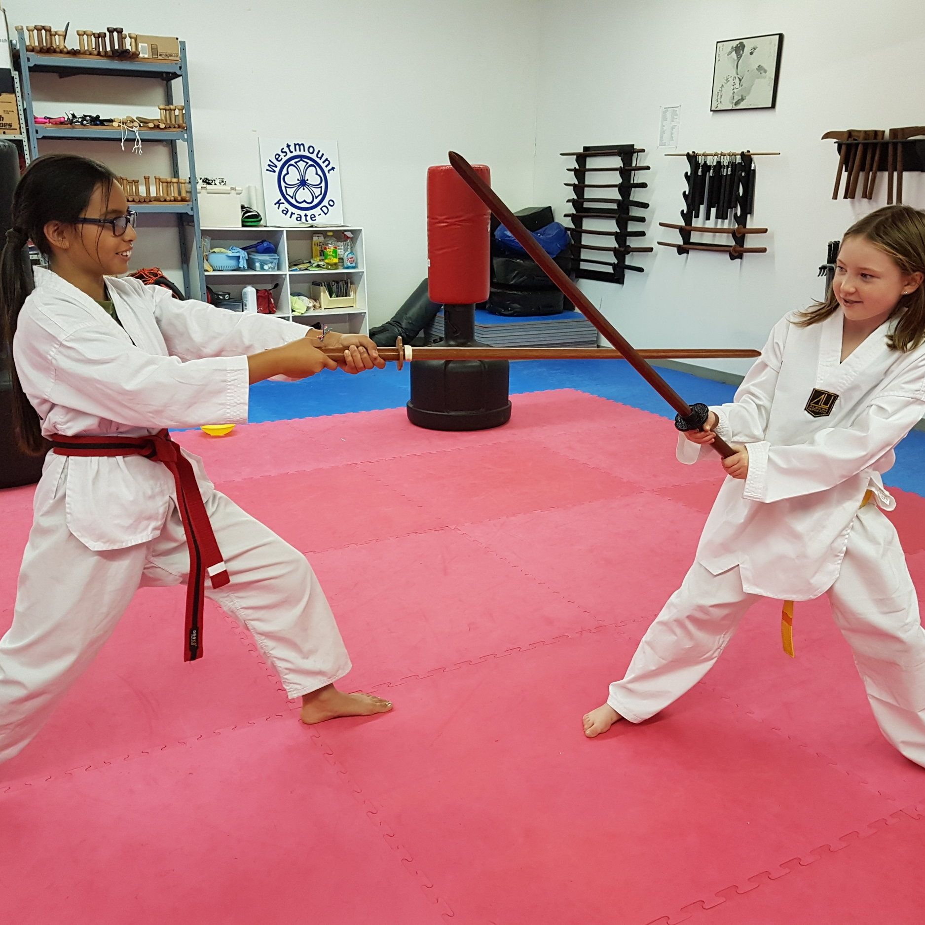 Ages 12+ All Levels - Mon/Wed 6:30-7:30This class is geared towards young teens, with an accelerated curriculum compared to the children's classes and a greater emphasis on quickly gaining proficiency with technical skills. Self defense is a central part of the curriculum and each class includes a strength and conditioning portion to prepare students for physical demands of martial arts. Weapons skills are a focus right away.