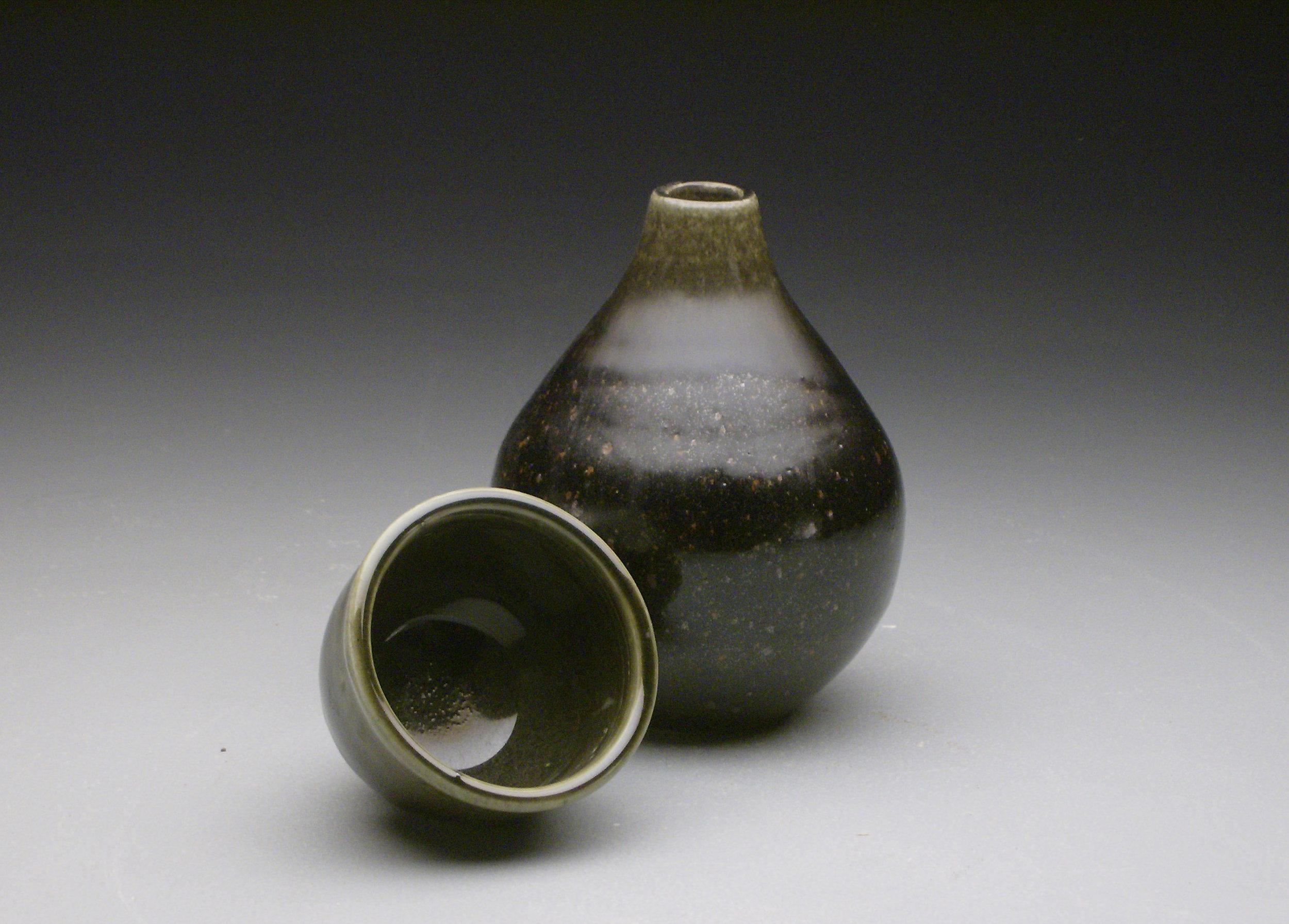 Tenmoku Sake Set