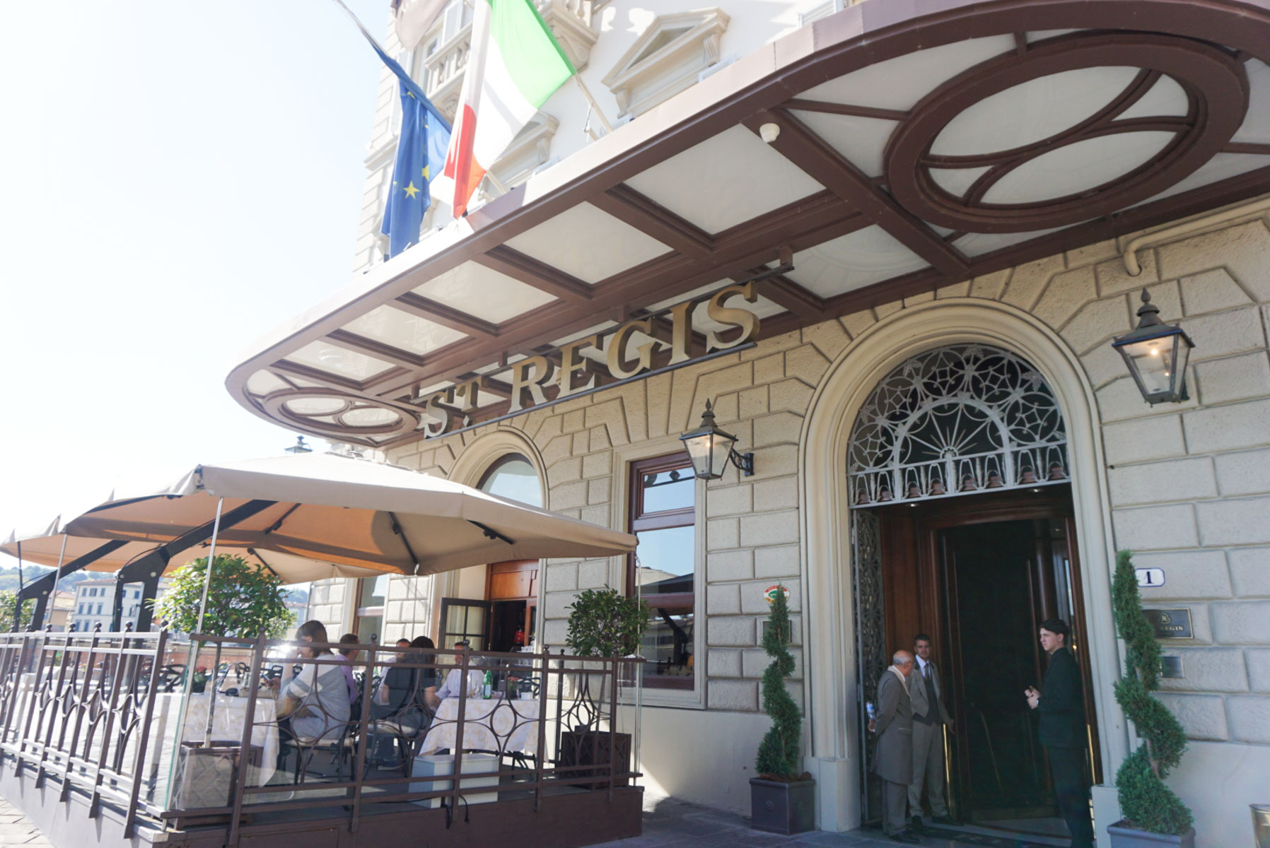 The beautiful entrance to the St. Regis in Florence, Italy.