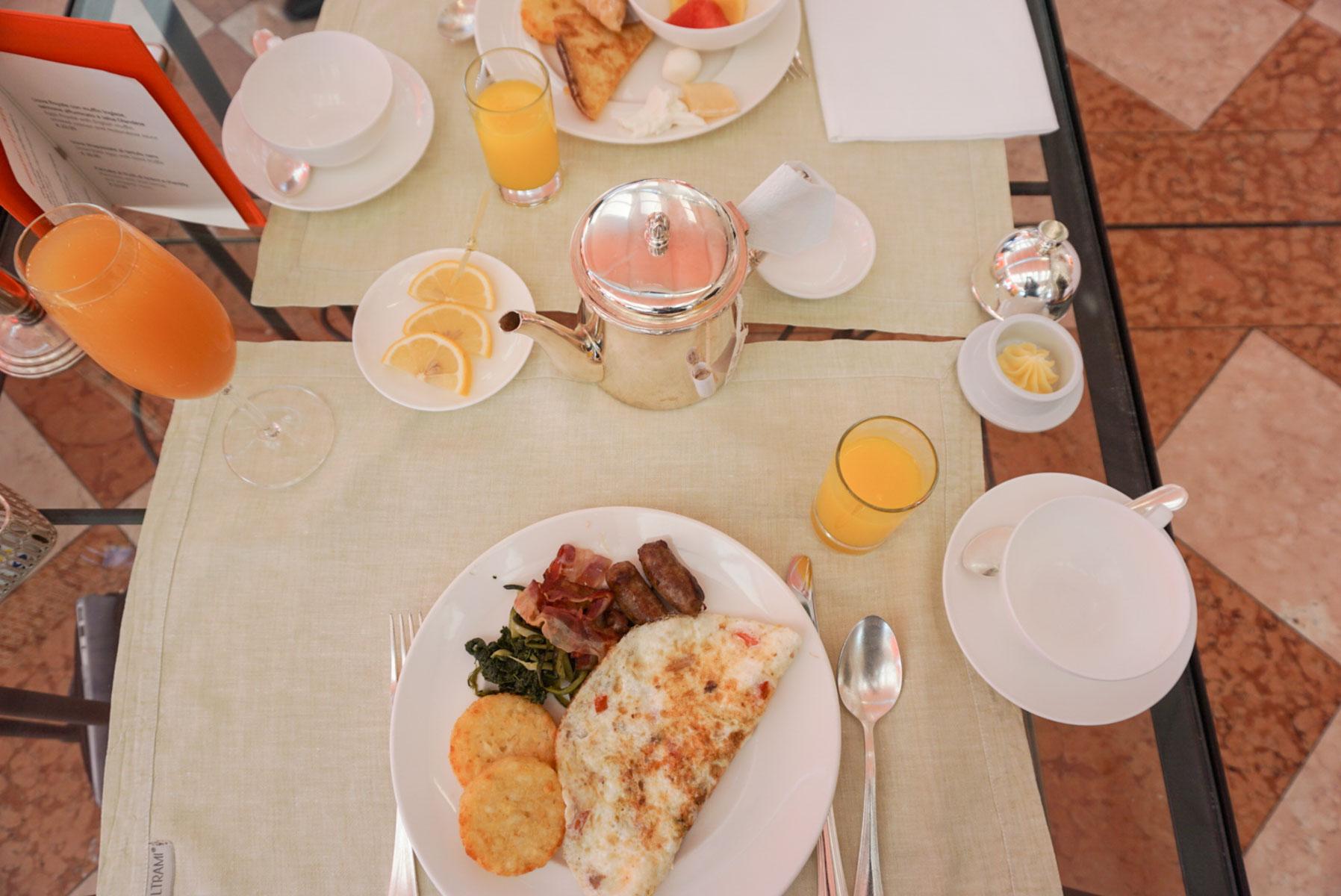 Breakfast Buffet at The Grand Tremezzo at Lake Como, Italy