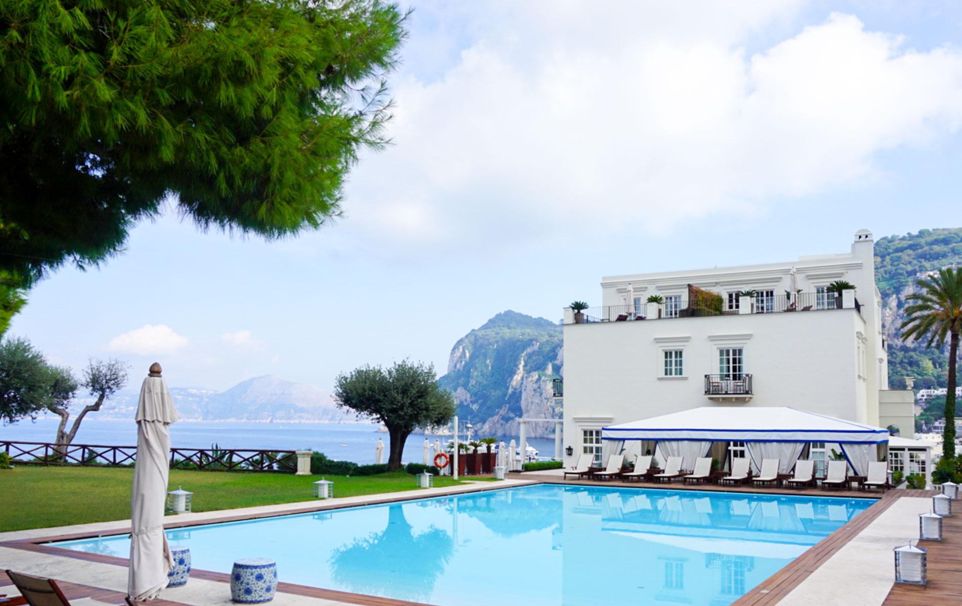 J.K. Place Capri  Pool. One of the best views in Capri.