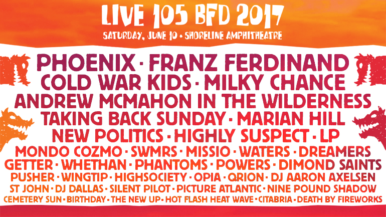 LIVE 105's BFD 2017