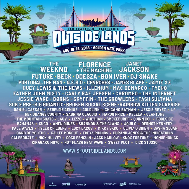 Outside Lands Music and Arts Festival 2018