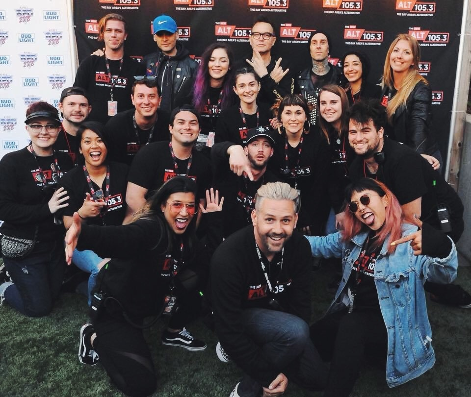 The BFD 2018 ALT 105.3 Crew with a special appearance by Blink-182. (Photo by Trisha Leeper)