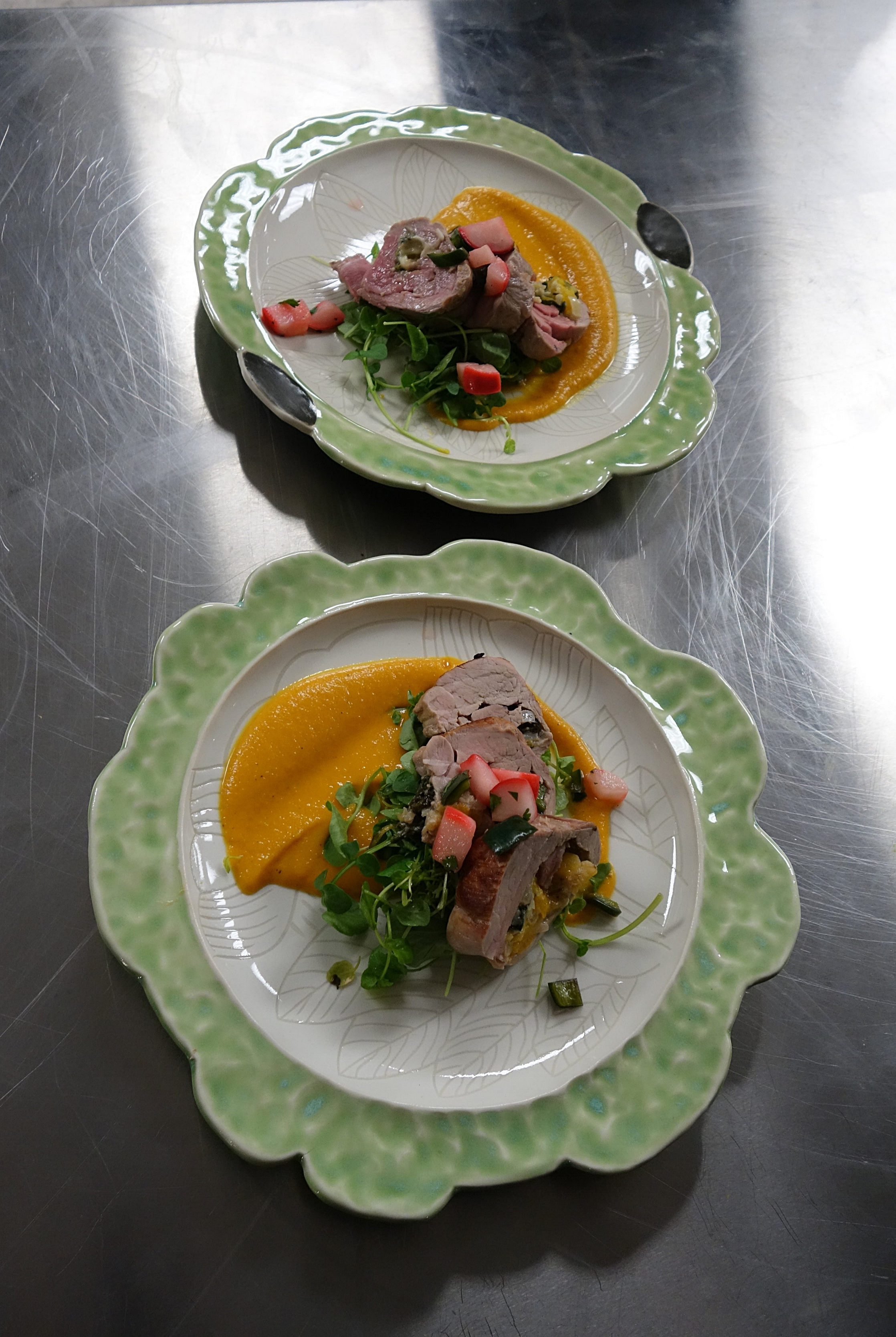 Chef Carrie Eagle and Potter Jen DePaolo
