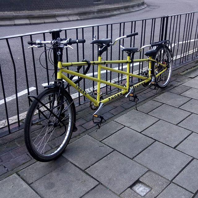 Cycling as a three!