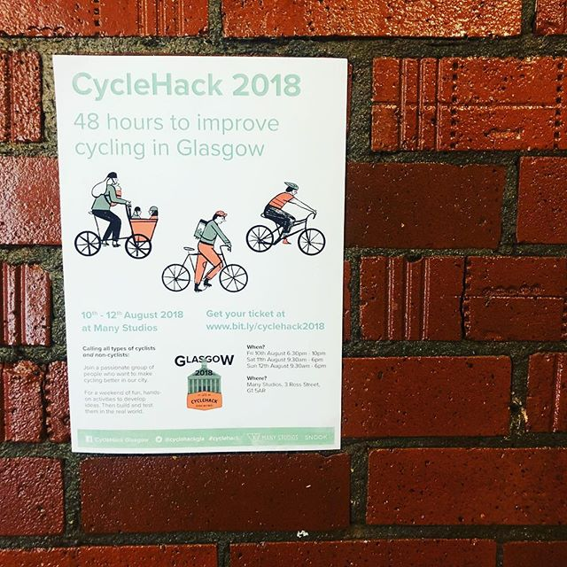 And we are live. First stop @cyclehackgla in our mini tour of Cyclehacks this weekend! Go be awesome!