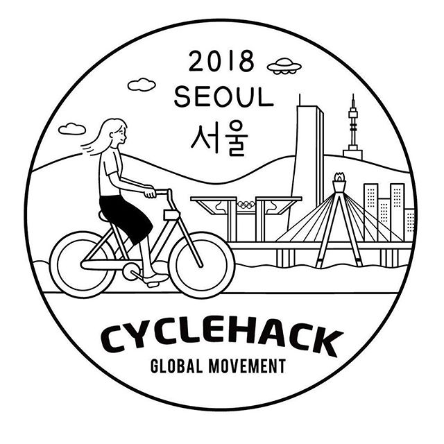 I mean we're happy Seoul in Korea joined us this year but this logo 😍Welcome to the #cyclehack family!